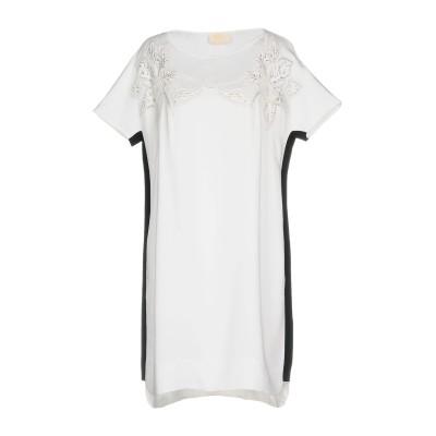 VDP COLLECTION ミニワンピース&ドレス ホワイト 40 レーヨン 96% / ポリウレタン 4% ミニワンピース&ドレス