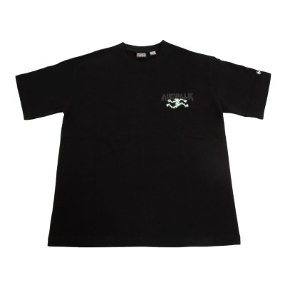 AIR WALKウェア天竺クルーTシャツ 0273-4130 49 半袖ブラック
