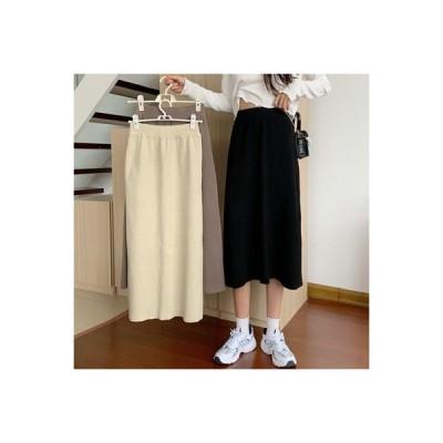 【送料無料】秋 年 レディース ハイウエスト 着やせ スカート 気質黒 裾 何でも似合う | 364331_A63631-9441074