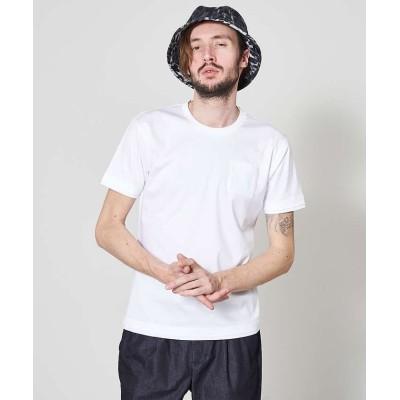 【5351プール・オム】 アリオリティ・スムース クルーネック 半袖Tシャツ メンズ ホワイト 48 5351POUR LES HOMMES