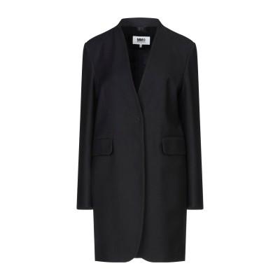 MM6 メゾン マルジェラ MM6 MAISON MARGIELA コート ブラック 40 バージンウール 53% / コットン 47% コート