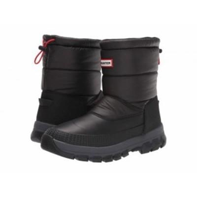 HUNTER ハンター メンズ 男性用 シューズ 靴 ブーツ スノーブーツ Original Insulated Snow Boot Short Black【送料無料】