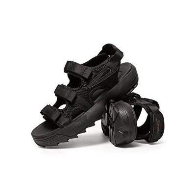 [arcx] サンダル ビーチサンダル コンフォートサンダル スポーツサンダル ファッションサンダル 夏春 (ブラック 26.5 cm)