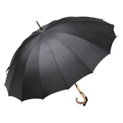 前原光榮商店製 軽くて丈夫なカーボン骨 レディース無地16本骨雨傘 TRAD-16-Carbon(ブラック) 前原傘 皇室御用達前原光栄商店 かさ 女