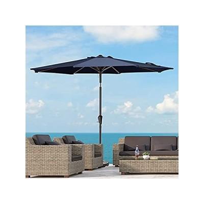 KITADIN Patio Umbrella - Outdoor Market Table Umbrellas with Push Button Ti