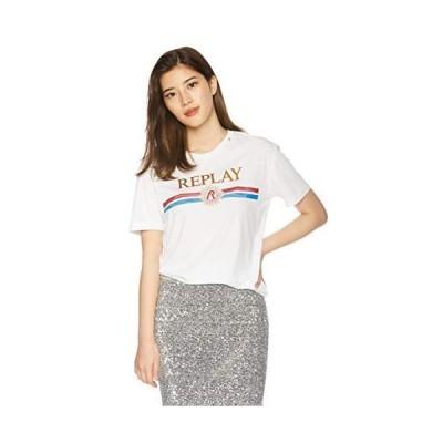 リプレイ Tシャツ ガーメントダイドライトコットンジャージーTシャツ レディース W3940H.000.22536G ホワイト EU S (