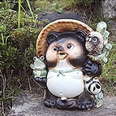 たぬき 置物 名入れ 13号満願成就狸 信楽焼 縁起物のやきもの 和風 陶器 【手作り】