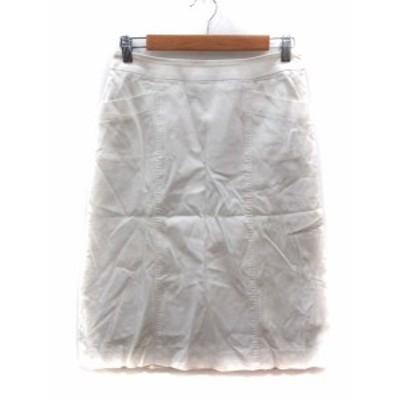 【中古】ポールスチュアート PAUL STUART スカート フレア ミモレ ロング 8 白 ホワイト /YI レディース