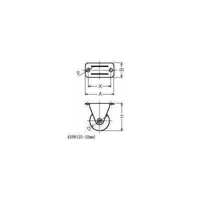 ハンマーキャスター 420R-N32 ナイロン