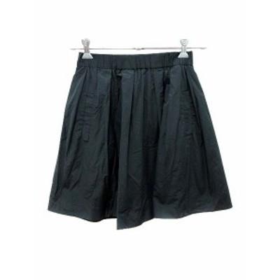 【中古】シップス SHIPS GRUPPOCINQUE スカート フレア ミニ 黒 ブラック /YK レディース