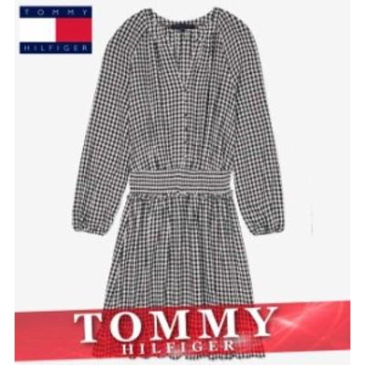 トミーヒルフィガー ワンピース ドレス レディース ウィメンズ エッセンシャル スモック チェック柄 XS~XL 新作 TOMMY