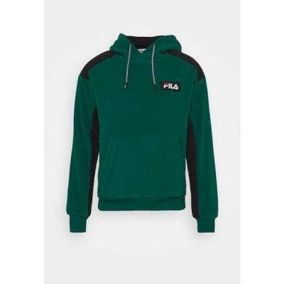 フィラ メンズ ファッション CREVAN DROPPED SHOULDER HOODY - Sweatshirt - storm/black