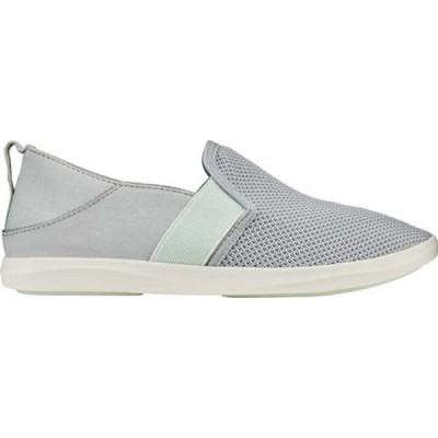 オルカイ OluKai レディース スリッポン・フラット シューズ・靴 Hale'iwa Vegan Sneaker Pale Grey/Pale Moss Mesh/Synthetic