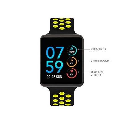 iTouch Air Special Edition Smartwatch Heart Rate Monitor, Blood Oxygen Monitor, Pedometer, for Android and iOS Smart Phones - Perforated Silicone Stra