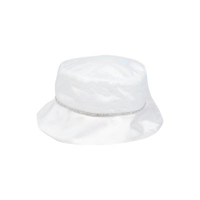 PICCOLE STELLE 帽子 ホワイト 12 紡績繊維 帽子