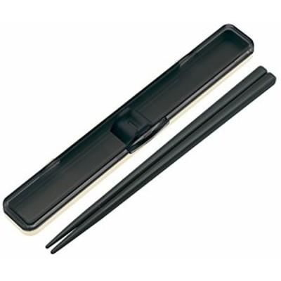 音のならない箸箱セット レトロフレンチ ブラック(黒) ABC3 スケーター(SKATER)