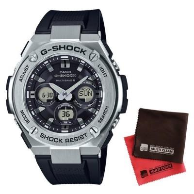 (セット)(国内正規品)(カシオ)CASIO 腕時計 GST-W310-1AJF (ジーショック)G-SHOCK G-STEEL メンズ 電波ソーラー&クロス2枚