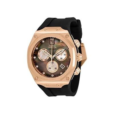 Invicta Men's JT Stainless Steel Quartz Watch with Silicone Strap, Black, 3