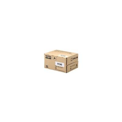 テプラTR用テープ 9mm 白/黒文字 5個 キングジム TC9S