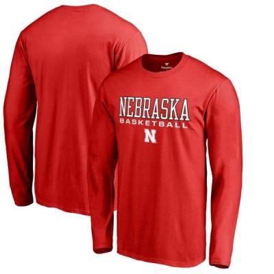 ユニセックス スポーツリーグ アメリカ大学スポーツ Nebraska Cornhuskers Fanatics Branded True Sport Basketball Long Sleeve T-Shi