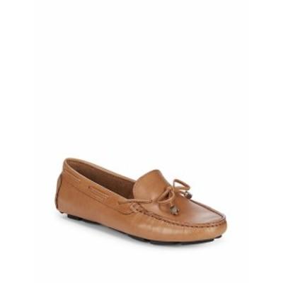 サックスフィフスアベニュー レディース フラットシューズ Lace-Up Leather Driver Shoes
