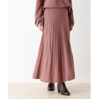 pink adobe(ピンクアドベ) 【WEB限定LLサイズあり】【毛玉になりにくい】ニットスカート