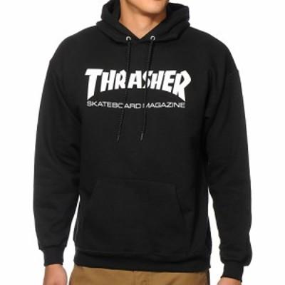スラッシャー THRASHER メンズ パーカー トップス Thrasher Skate Mag Black Hoodie Black
