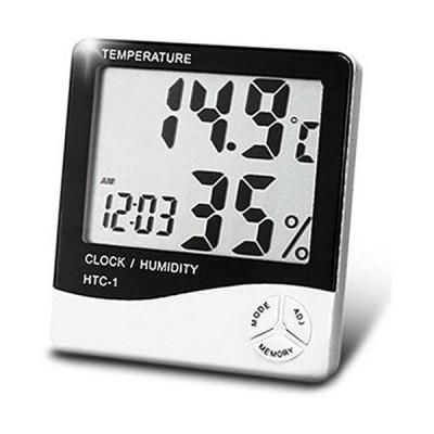 Departmenhouse-デジタル温湿度計-アラーム-カレンダー-目覚まし時計5つの機能の壁に取り付け