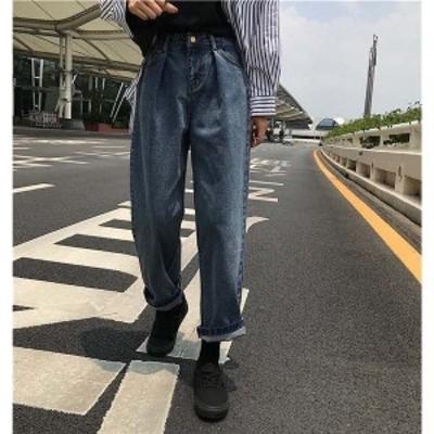 ワイドパンツデニムガウチョレディースロングハイウエストジーンズジーパン大きい美脚脚長効果着痩せ大人ボトムスズボンゆったり