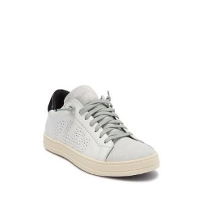 p448 レディース スニーカー シューズ John Suede & Leather Sneaker WH/PYB