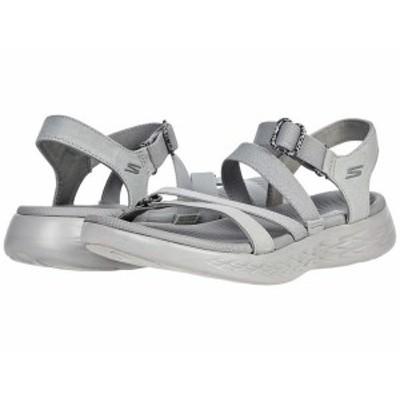 スケッチャーズ レディース サンダル シューズ On-The-Go 600 Stretch Fit Sandal Gray