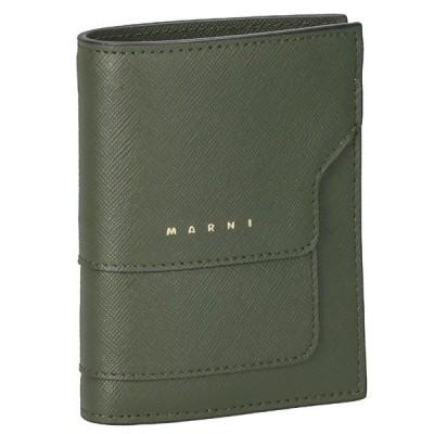 マルニ MARNI 折財布 二つ折り財布 ミニ財布 BI-FOLD バイフォールドウォレット レディース PFMOQ14U07 LV520 Z469N ダークグリーン
