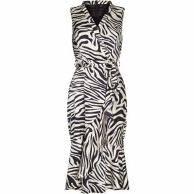 メラ ロンドン Mela London レディース ワンピース ミドル丈 ワンピース・ドレス Black Animal Print Midi Dress Black