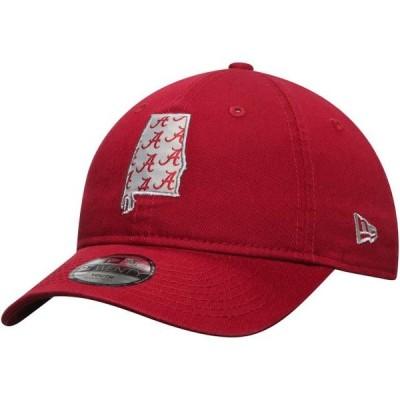 キッズ スポーツリーグ アメリカ大学スポーツ Alabama Crimson Tide New Era Youth Stamp 9TWENTY Adjustable Hat - Crimson - OSFA