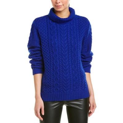 ザックポーゼン ニット&セーター アウター レディース ZAC Zac Posen Wool Sweater bluebell