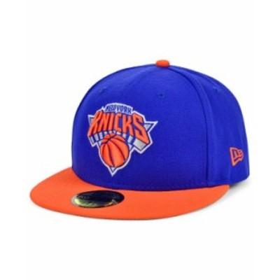 ニューエラ レディース 帽子 アクセサリー New York Knicks Basic 2-Tone 59FIFTY Cap RoyalBlue