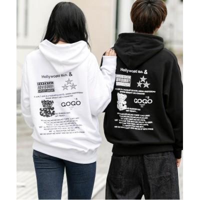 ADMIX-Japan/JETSET SOLO PLUS / 【Hollywood Rich.&】ハリウッド リッチ / バックプリント スウェット プルパーカー ユニセックス MEN トップス > パーカー