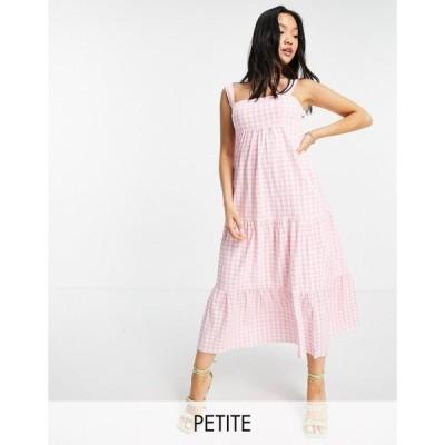 フォーエバーニュー Forever New Petite レディース ワンピース ミドル丈 ワンピース・ドレス smock midi dress in baby pink gingham