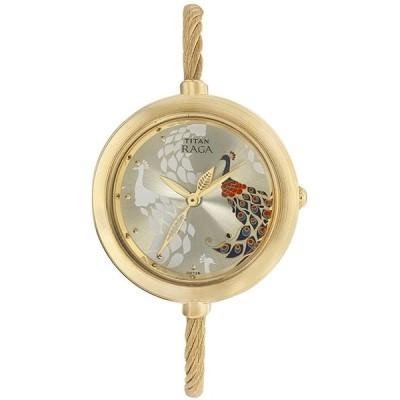 Titan女性RagaアナログMother of Pearl Dial Watch 並行輸入品