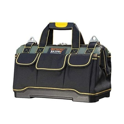 ツールバッグ 工具バッグ モールドベース底部補強タイプ 電気 多いポケット 大容量 オープンタイプ ワイド口 ショルダーバッグ 手提げ 撥水処理