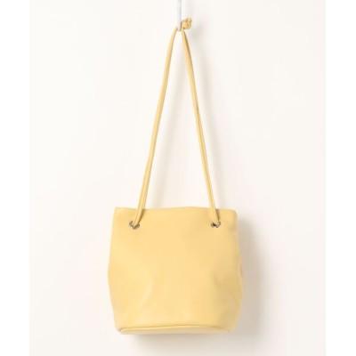 MERCURYDUO / フェイクレザー巾着バッグ WOMEN バッグ > ハンドバッグ