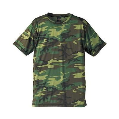 C.A.B.CLOTHING(キャブクロージング) | 6589 ドライクールナイス カモフラージュ Tシャツ ウッドランド (WOOD LAND) S