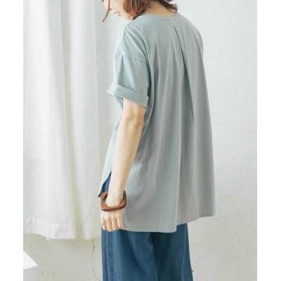 tシャツ Tシャツ SUVINコットンラウンドヘムTシャツ
