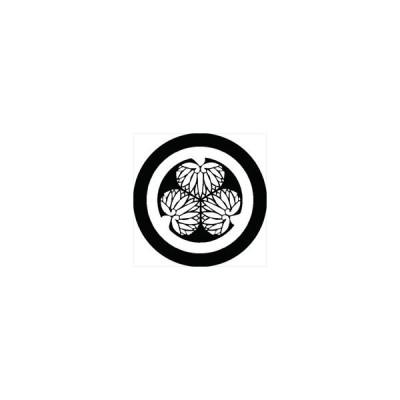 家紋シール 尾州三つ葵紋 直径4cm 丸型 白紋 4枚セット KS44M-2640W