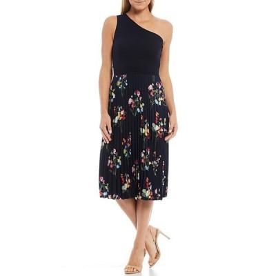 テッドベーカー レディース ワンピース トップス Floral Print One Shoulder Sleeveless Midi Dress