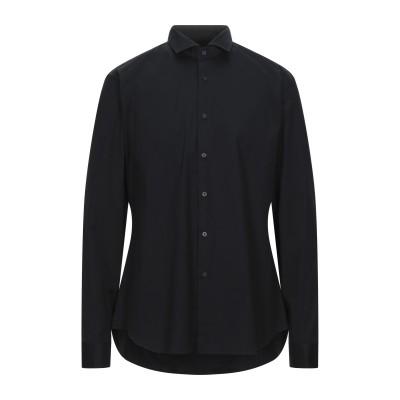 XACUS シャツ ダークブルー 44 コットン 96% / ポリウレタン 4% シャツ