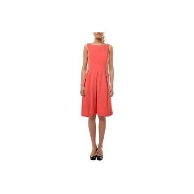 ドレス ワンピース Anne Klein Anne Klein 6359 レディース ピンク Textuレッド ノースリーブ Wear to Work ドレス 12 BHFO