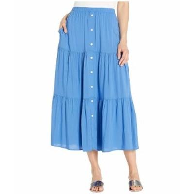 カレンケーン レディース スカート ボトムス Tiered Midi Skirt Tile Blue