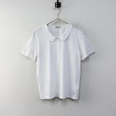 Sally Scott サリースコット 丸襟 カットソーシャツ L/ホワイト トップス 2400012314856