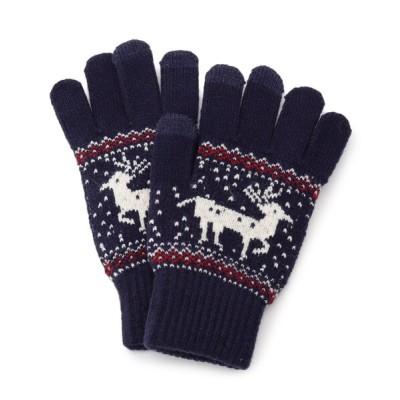 SHOO・LA・RUE / 鹿ジャカードニットグローブ WOMEN ファッション雑貨 > 手袋
